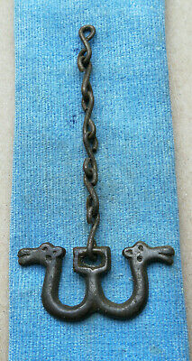 "Ancient Viking Bronze pendant AMULET ON CHAIN "" DRAGON "" GREAT SAVE SUPER RARE"