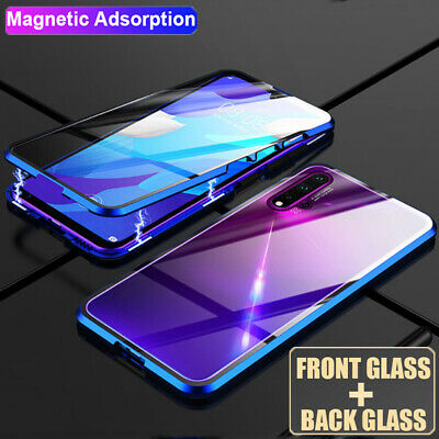 Magnetic Metal 360 Double Sides Glass Case Cover for Samsung Galaxy Note 10 S10+