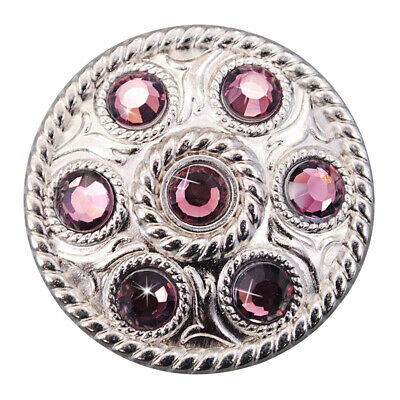 C-Ty32 Set Of 32 Purple Crystal Rhinestone Wheel Conchos Bling Headstall Tack Co