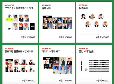 NCT Dream - We Boom Pop Up Store Official Goods