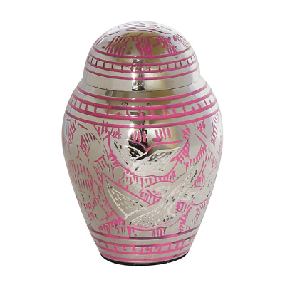 Mini Urn For Ashes Small Sharing Ashes Keepsake Pink Token Flying Birds