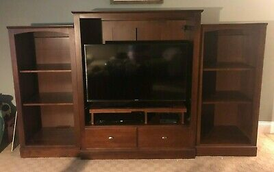 Ethan Allen American Dimensions Sepia Media/coffee & end tables/book shelves