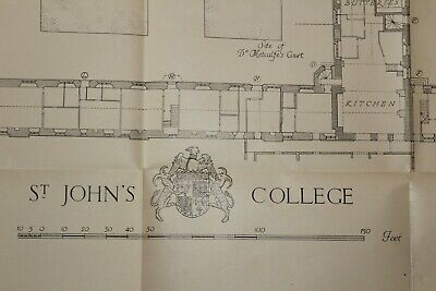 St Johns College, Cambridge.  Detailed scale drawings