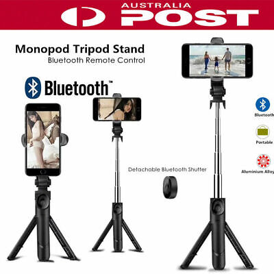 New 4 in 1 Wireless Bluetooth Selfie Stick Tripod Monopod Remote Control 360° GH