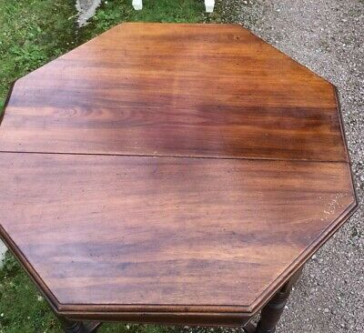 Antique mahogany Octagenal Occasional Table S2