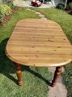 pine extending dining table antique pine affect.