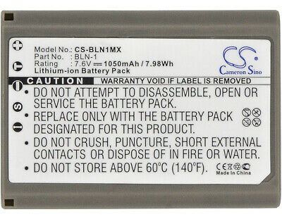 Replacement Battery For Olympus 7.6v 1050mAh/7.98Wh Camera Battery