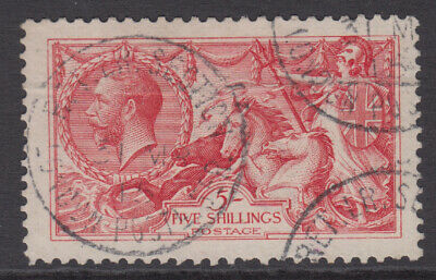 SG 401 5/-  Pale Rose Carmine  N66 (2) 1913 Waterlow Seahorse in fine used .