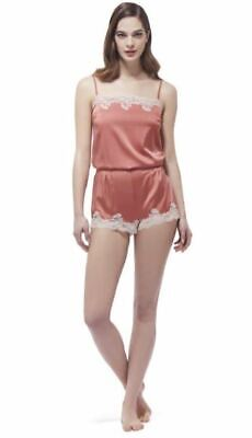Small RRP £55.00 BNWT Myla Heritage Silk Thong in Tea Rose//Rose Gold