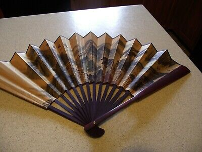 Chinese Asian Scenic Pattern Folding Fan