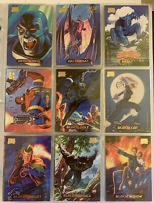 Trading Cards Marvel Masterpieces 1994 Hildebrandt Fleer + Holofoil + Power Blas
