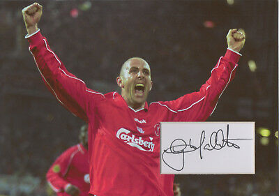GARY MCALLISTER In Person signed 12x8 Photo Display LIVERPOOL & SCOTLAND COA
