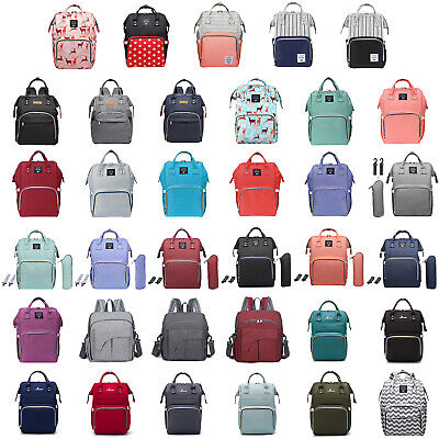 Mummy Maternity Nappy Diaper Bag Large Capacity Backpack Baby Nursing Handbag US