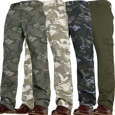 Mens Military Combat Trousers Camouflage Cargo Camo Army Casual Work Jean Pants