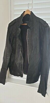 d0be82594 AWESOME RARE* ALLSAINTS Mens Distressed PHOBIA Leather Jacket Coat ...