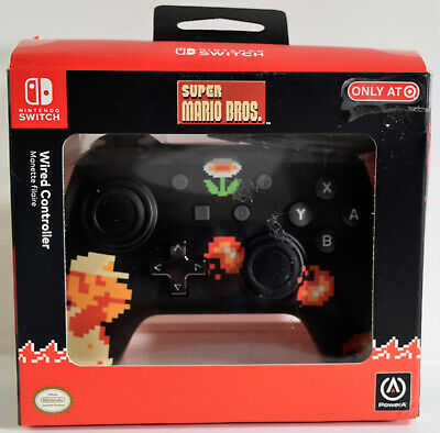 POWERA WIRED SUPER Mario 8 Bit Nintendo Switch Pro Controller Target  Exclusive