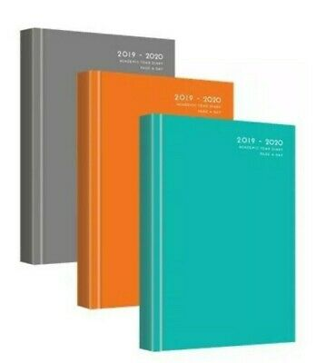 2019 2020 A5 Academic Day per page/ Week To View Hardback Desk Diary