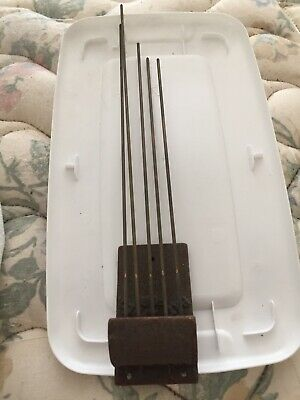 "Antique 5 Rod Westminster Chime Mantle Clock Strike System 14"" Longest Rod"