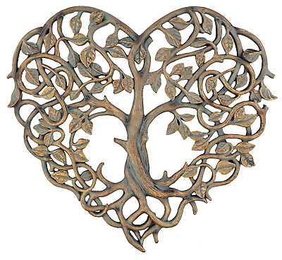 "Old River Outdoors Tree of Life/Heart Wall Plaque 12"" Decorative Art Sculpture -"