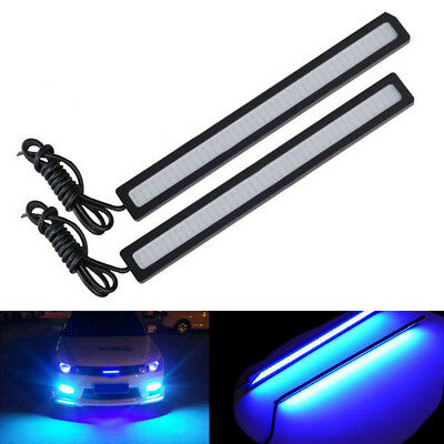 Blue Super Bright Car COB LED Light DRL Fog Drive Lamp Waterproof DC 12V 17BLUS