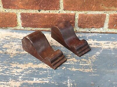 Vintage Old French Wooden Corbels