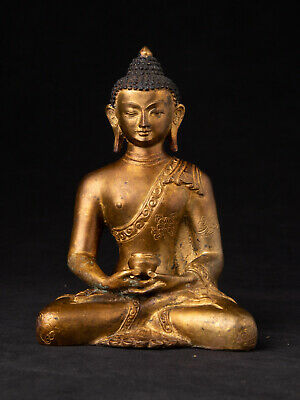 Old bronze Nepali Buddha statue from Nepal, ANTIQUE BUDDHA STATUES