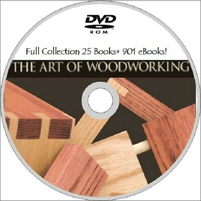 ART OF WOODWORKING 25 Books DVD ROM +Free  EBOOKS! Carpentry  plans guides