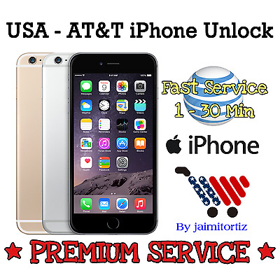 FACTORY UNLOCK✅PREMIUM✅HIGH PRIORITY✅Code Att AT&T  iPhone 4 4S 5 5S 6 6+ 7 ALL