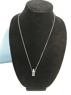 Sterling Silver Perfume Bottle Pendant On Sterling Silver Chain