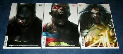 DCEASED #1 2 3 Francesco Mattina variant set 1st print DC 2019 HORROR NM UNREAD