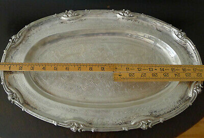 Antique Large Egyptian Sterling Tray - Beautiful Calligraphy Over 80 Years Old