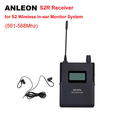 ANLEON S2R Receiver For Stereo In-ear Wireless Monitor System IEM UHF Monitoring