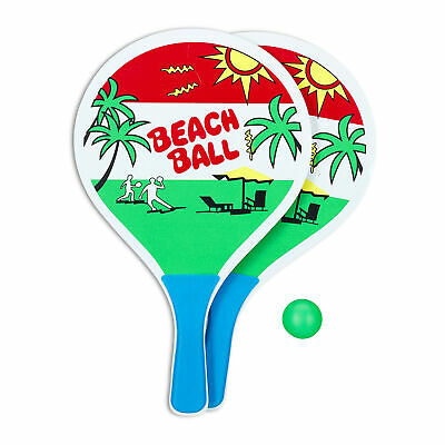 beachballset - strandspeelgoed - strandtennis - 2 x racket - beach ball set