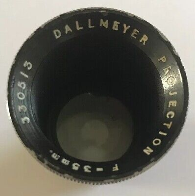 Rare Vintage Dallmeyer Projection F = 35mm Projector Lens Very Clean Condition