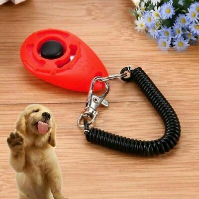 Pet Puppy Click Clicker Training Gehorsam Trainer Aid Handgelenk Strap 5Far P8B3