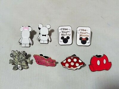 Disney Official Trading Pins Mickey & Minnie Couples' Lovers Theme Lot of 8