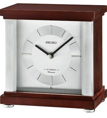 Seiko qxw247b mantel clock with Westminster chime, 12 melodies & volume control