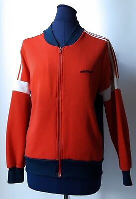 ADIDAS True Vintage Red & Blue Tracksuit Top Retro - Small