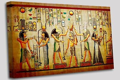 Old Papyrus style Egyptian Canvas Wall Art Picture Print