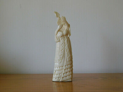 Fine Tall Antique Chinese Carved Bone Bovine Empress Figure - Qing