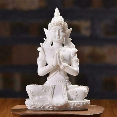 Meditative Seated Buddha Sandstone Statue Sculpture Decor Figurine N3M3