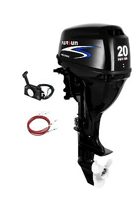 20 HP Parsun Outboard - Electric Start, Remote Controls, Short Shaft