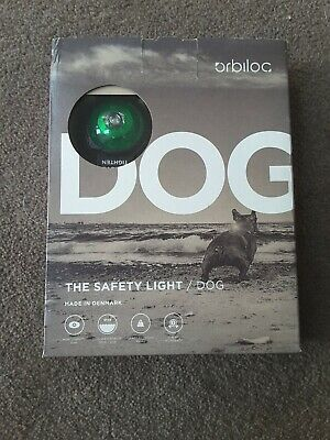 Orbiloc Dog Safety Light - Green LED - Brand new (Fits To Harness Or Collar)