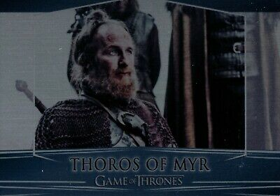 Game of Thrones Season 7, Thoros of Myr Metal Valyrian Steel Card 105