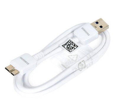 Cable Chargeur Pour Samsung S5 Galaxy Note 3 Disque Dur Usb Micro Usb 3.0 Blanc