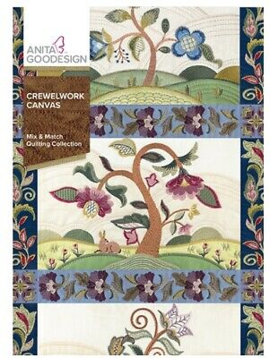 Anita Goodesign - Crewelwork Canvas -Quilting Col Machine Embroidery Designs Usb