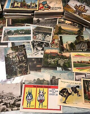 Antique Vintage Lot of Postcards ~ 30 RANDOM Postcards Early 1900's - 1970s