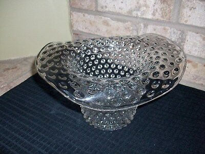 """Hobnail Clear Glass Ice Bucket Bowl - Rare Find - 6"""" Tall Nice!"""