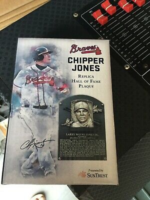 Braves Chipper Jones Replica HOF Plaque