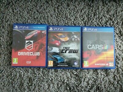 3 X PS4 Racing Games (Driveclub, The Crew & Project Cars)